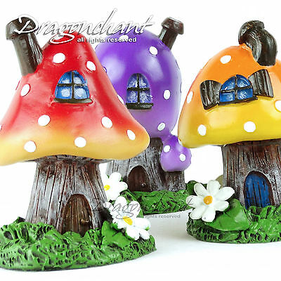 TOADSTOOL Fairy Village Incense Burner Figurine Ash Catcher + FREE Incense Cones