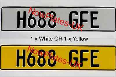 German Pressed Plate White or Yellow Plain or with GB Euro Band x 1
