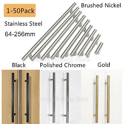1 10 Kitchen Cabinet Pulls Brushed Nickel Stainless Steel T Bar Drawer S