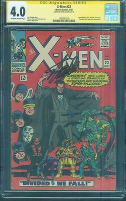 X Men 22 CGC SS 4.0 Stan Lee Sign Count Nefaria Unicorn Dick Ayers art 1966 OW/W