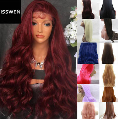 """24""""Long Curly Wavy Lace Front Wig With Baby Hair Heat Resistant Synthetic Hair"""