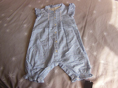 Boys (unisex) all in one playsuit romper suit 9-12 MONTHS. M&S NEW WITH TAGS!