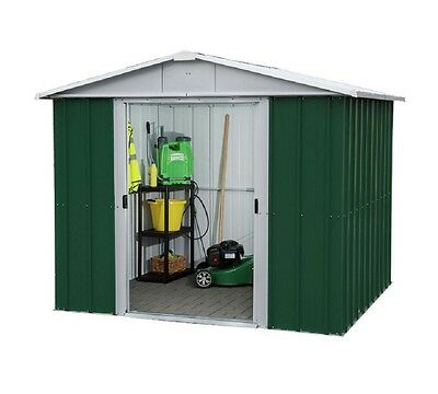 846 Customer Returned Yardmaster Apex Metal Shed - Size 7ft 11in W x 6ft 5in D