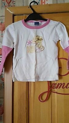 girls minnie mouse long sleeved top size 2/3 years
