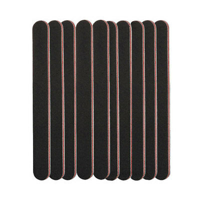 3 X Double Sided 180/100 Grit Straight Nail Files Manicure Emery Board File Gel