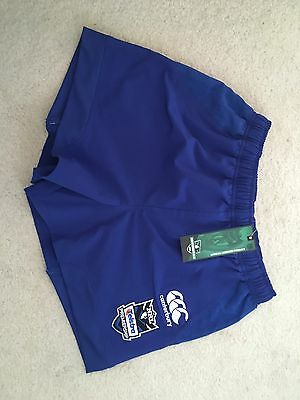 "NEW Mens 34"" BANKSTOWN BULLDOGS Rugby League SHORTS Canterbury Medium On Field"