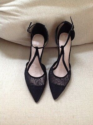Pre-owned Next Black Suede/Lace Shoes Size UK 7