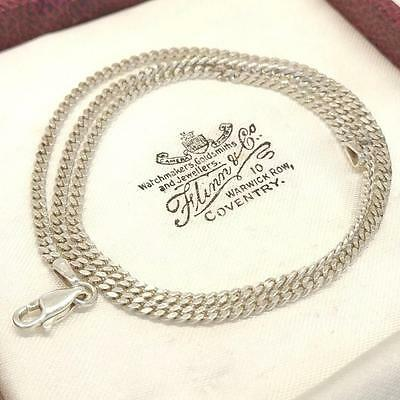 Vintage Beautiful Fine Sterling Silver Close Link Chain Necklace - 6.3 Grams