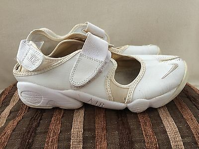 Nike Air Rift White Leather Trainers Size 5 UK Womens