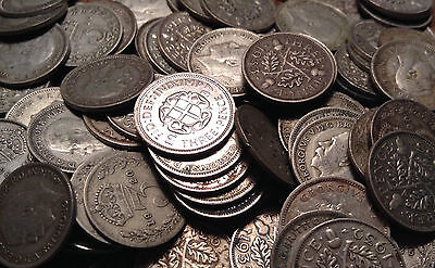 1920 To 1946 Uk Great Britain .500 Silver Threepence Buy 1 Or More Its Free S/h!