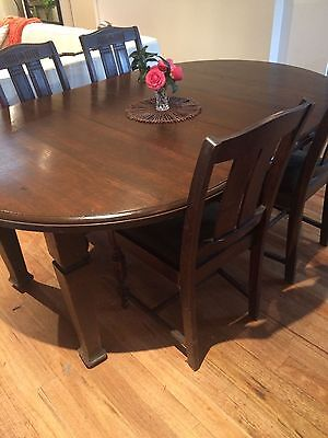 Antique Dining Table with matcing chairs