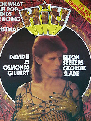 Hit Magazine! 29Th Dec 1973 - David Bowie - New Seekers - Marc Bolan
