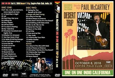 Paul Mccartney. 2016. First Concert On The Desert Trip. 2 Dvd.