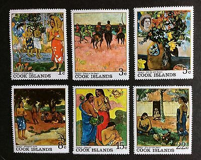 Cook Islands 1967 Gauguin Paintings Complete Set MNH SG 249 - 254