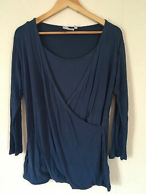 JOJO MAMAN BEBE Cross Front Nursing Maternity Top Long Sleeve Size L