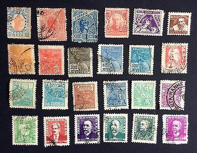 Brazil - 24 different used stamps including some early