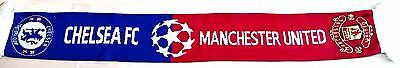 Man United v Chelsea Match Champions League Scarf Official Football Gifts
