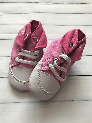 Baby Girls Shoes 3-6  Months - Cute Dunlop Pram Trainers New