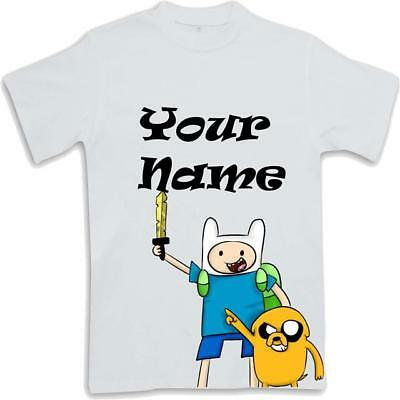 Personalised Printed Adventure Time Kids T Shirt Sublimated ages 3 to 13 Finn