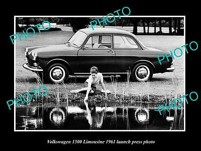 Old Large Historic Photo Of 1961 Volkswagen 1500 Limousine Launch Press Photo 3