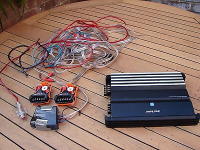 Alpine V-Power 4-Channel Power Amplifier MRP-F450 RCA Input Pre Out Crossover