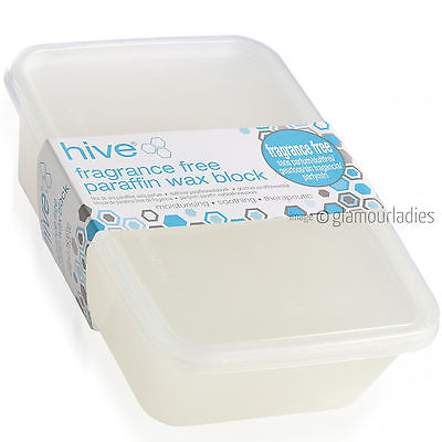HIVE OF BEAUTY Low Melt FRAGRANCE FREE Paraffin Wax Block Therapeutic Treatments