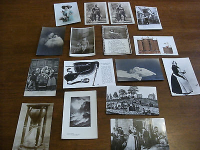 16 Various Old Postcards 1900's Onward