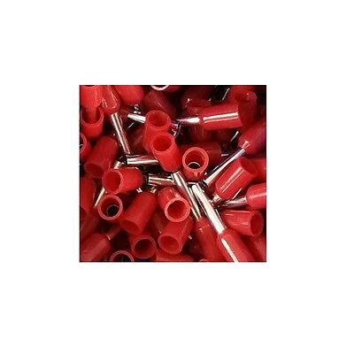 Wire Ferrules 1,0mm ² insulated Red - 100 Piece