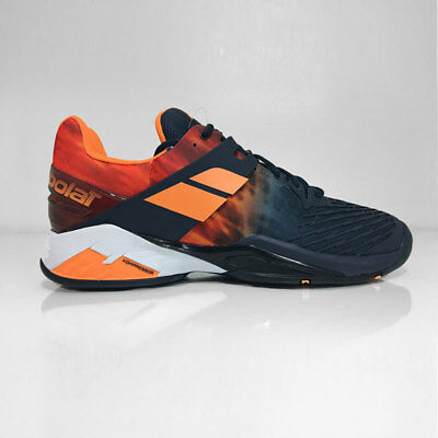 Babolat Mens Propulse Fury Tennis Shoes - Dark Navy/Orange