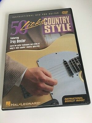 50 Licks Country Style Troy Dexter Learn How to Play Guitar Tuition DVD