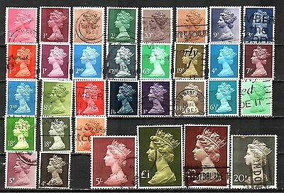 Great Britain Machin Definitives 33 Used Lt-189.10