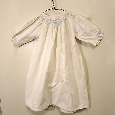 Vintage Antique Child's Baby Nighty Night Gown Embroidered