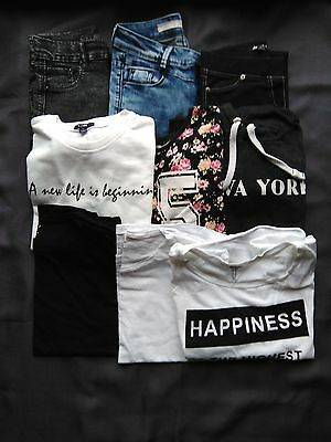 Gros Lot vetements fille taille XS / S Jennyfer Kiabi pull and bear