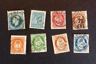 NORWAY very useful early used group - 8 values CV £65+