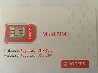 New Rogers LTE Multi SIM Card - Nano / Micro / Regular Size Canada Travel