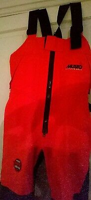 Musto Sailing MPX Performance Salopettes Small Size Red