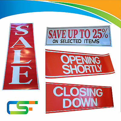 Sale Signage Posters For Shop Opening Shortly / Closing Down / Sale