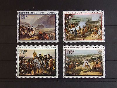 Set of Congo # 1969 (MNH, Mi 173-176)  Art, historical figures, Napoleon topic