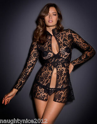 Agent Provocateur Rare Gift Boxed Black Denver Lace Gown 3 Medium Uk10-12 Nwt