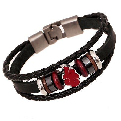 NARUTO Akatsuki Handmade Genuine Leather Bracelet