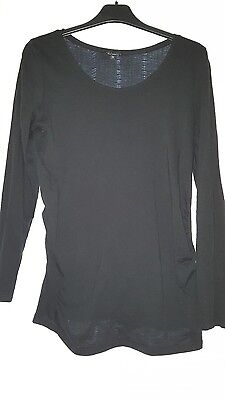 Black Maternity Top By New Look Size 12