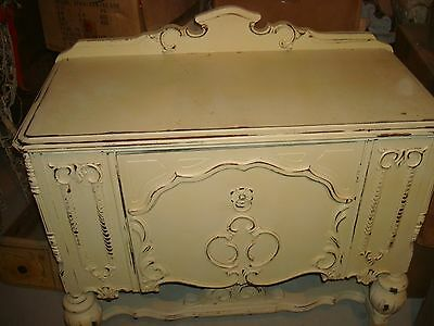 Vintage Shabby French Chic Painted Wooden Sideboard Buffet ***beautiful***