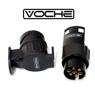 Voche® 7 Pin & 13 Pin Trailer Cable Socket Adapters For Caravans Horseboxes