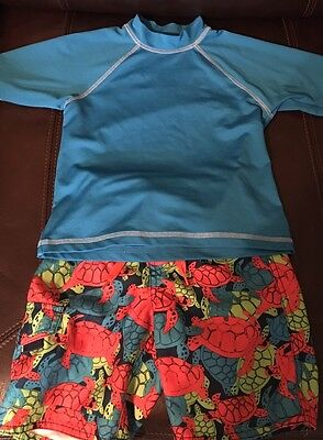 First Wave Swim Shorts And Shirt Size Boys 4/5