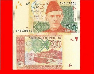 PAKISTAN  p55c - 20 rupee 2010 Uncirculated