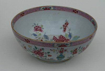 Chinese Export Porcelain Punch Bowl late 18th C.