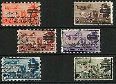 60924 - EGYPT Palestine - STAMPS:  Yvert  #25/30 Air Mail   USED - VERY NICE