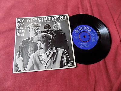 """PETER COOK & DUDLEY MOORE By appointment 7"""" Spoken word Comedy"""