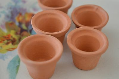 Craft Room Clearout  - 5 Mini Terracotta Flower Pots
