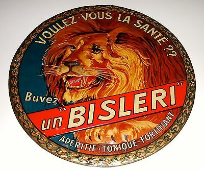RARE ancienne tole litho APERITIF BISLERI 1920 no absinthe dubonnet rossi pernod